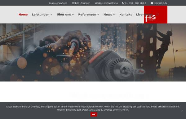 Vorschau von www.f-s.de, f+s software GmbH