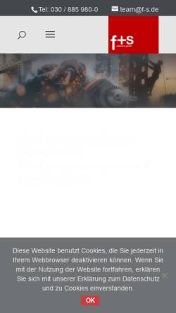 Vorschau der mobilen Webseite www.f-s.de, f+s software GmbH