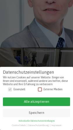 Vorschau der mobilen Webseite www.flesser-interim-manager.de, Achim Flesser