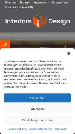 Vorschau der mobilen Webseite interiors.design, R.I.D. Interiors GmbH & Co. KG