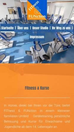 Vorschau der mobilen Webseite www.fitnessandfunction.de, FITness & FUNction, HULOCK Outdoor Sports