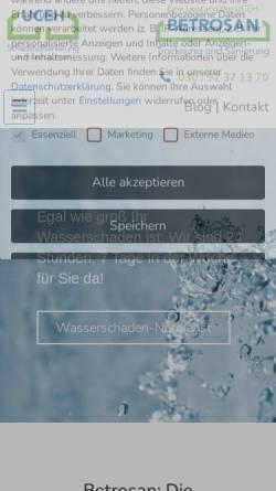 Vorschau der mobilen Webseite www.betrosan.de, BETROSAN GmbH
