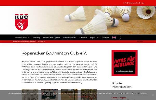 Vorschau von koepenickerbc.de, Köpenicker Badminton Club e.V.