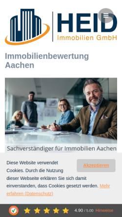 Vorschau der mobilen Webseite www.heid-immobilienbewertung.de, HEID Immobilienbewertung