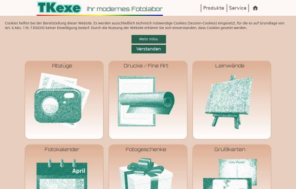 Vorschau von tkexe.eu, TKexe Printservice
