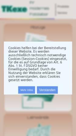 Vorschau der mobilen Webseite tkexe.eu, TKexe Printservice