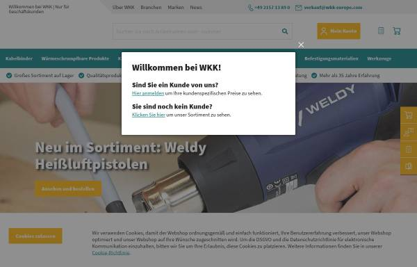 Vorschau von www.wkk-deutschland.de, WKK GmbH