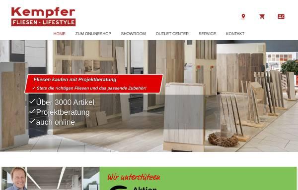 Vorschau von www.fliesen-kempfer.de, Volker Kempfer GmbH