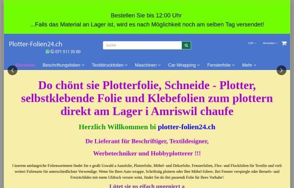 Vorschau von www.plotter-folien24.ch, plotter-folien24.ch Onlineshop