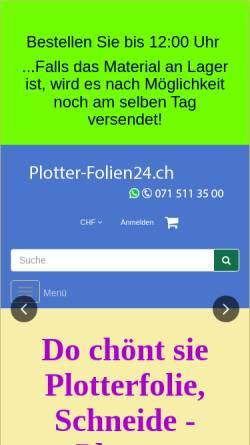 Vorschau der mobilen Webseite www.plotter-folien24.ch, plotter-folien24.ch Onlineshop