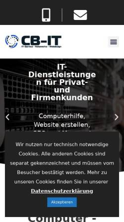 Vorschau der mobilen Webseite www.cb-it.de, CB-IT