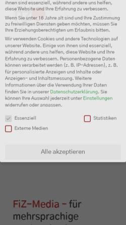 Vorschau der mobilen Webseite www.fiz-media.de, FiZ-Media