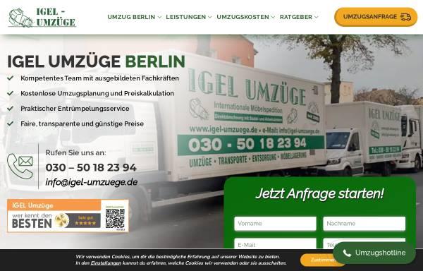 Vorschau von www.igel-umzuege.de, IGEL Umzüge
