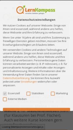 Vorschau der mobilen Webseite www.lern-kompass.de, LernKompass