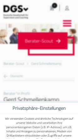 Vorschau der mobilen Webseite www.systemcoaching.info, ZwischenZeit-Coaching