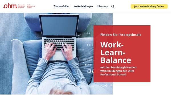 Vorschau von ohm-professional-school.de, OHM Professional School, Technische Hochschule Nürnberg
