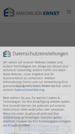 Vorschau der mobilen Webseite www.immobilienernst.de, Immobilien Ernst