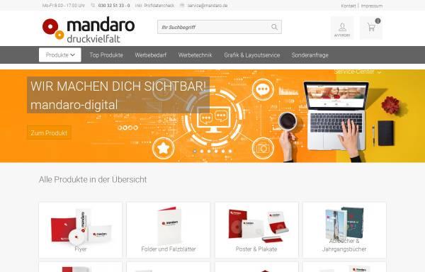Vorschau von www.mandaro.de, mandaro GmbH