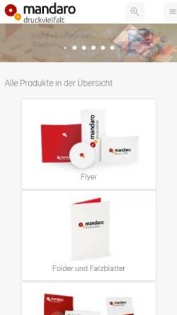 Vorschau der mobilen Webseite www.mandaro.de, mandaro GmbH