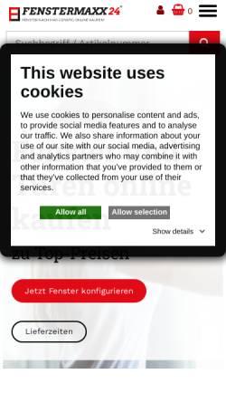 Vorschau der mobilen Webseite www.fenstermaxx24.com, Fenstermaxx 24 GmbH