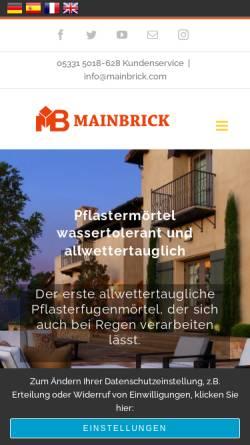 Vorschau der mobilen Webseite www.mainbrick.de, MBK-International GmbH