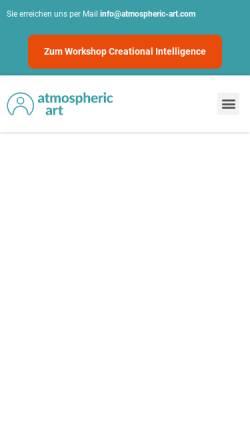 Vorschau der mobilen Webseite www.atmospheric-art.com, Atmospheric Art GmbH