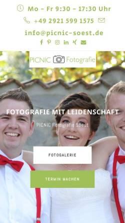 Vorschau der mobilen Webseite picnic-fotografie.de, PICNIC Fotografie