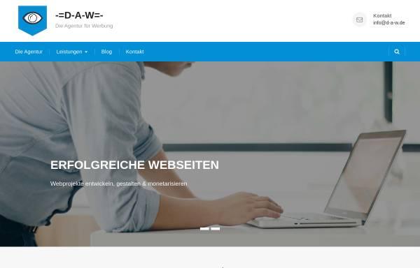 Vorschau von www.d-a-w.de, D-A-W - Die Agentur für Werbung