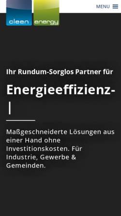 Vorschau der mobilen Webseite cleen-energy.com, CLEEN Energy AG