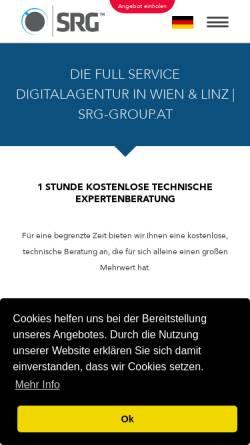 Vorschau der mobilen Webseite srg-group.at, SRG IT & Marketing GmbH