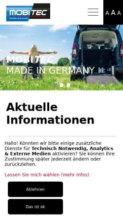 Vorschau der mobilen Webseite www.mobi-tec.de, MobiTEC GmbH & Co. KG