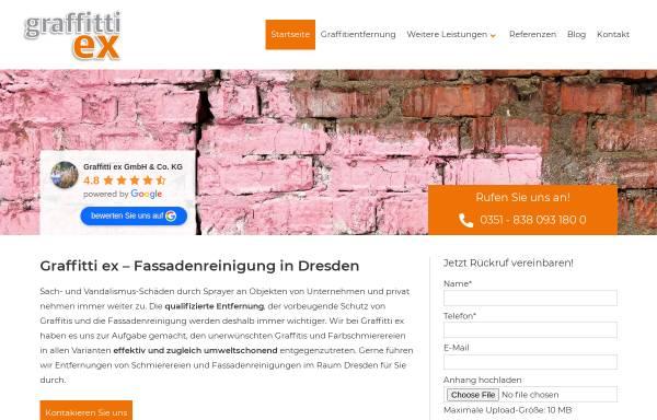 Vorschau von www.graffitti-ex-gmbh.de, Graffitti ex GmbH & Co. KG