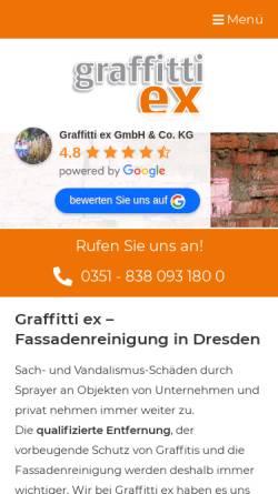 Vorschau der mobilen Webseite www.graffitti-ex-gmbh.de, Graffitti ex GmbH & Co. KG