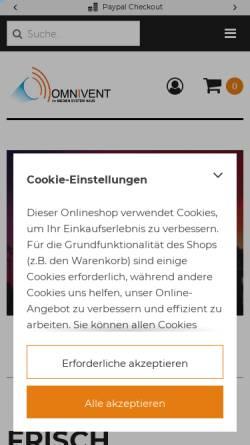 Vorschau der mobilen Webseite www.omnivent-media.shop, Omnivent-Media
