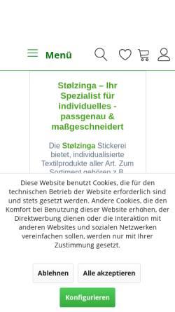 Vorschau der mobilen Webseite stoelzinga.de, Stoelzinga