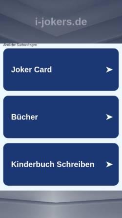 Vorschau der mobilen Webseite i-jokers.de, iJokers GbR
