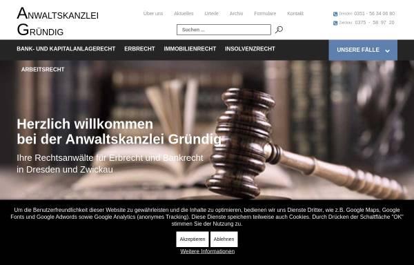 Vorschau von www.rae-gruendig.de, Anwaltskanzlei Gründig