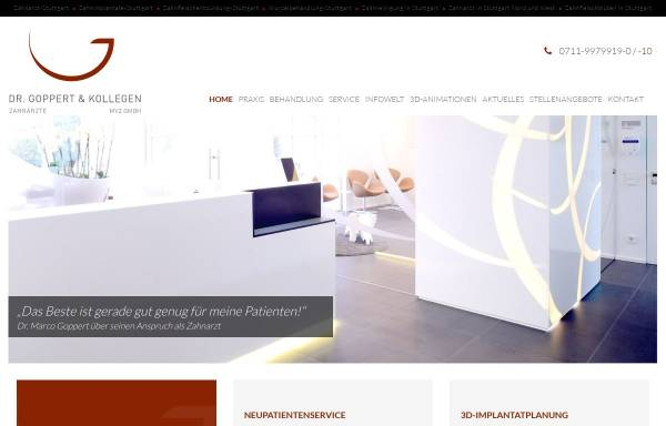 Vorschau von www.praxis-dr-goppert.de, Zahnarztpraxis Dr. Goppert