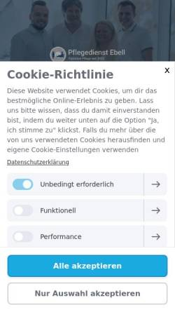 Vorschau der mobilen Webseite www.ambulanterpflegedienstebell.de, Ambulanter Pflegedienst Ebell