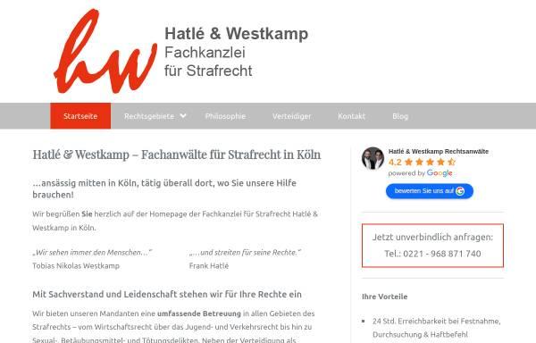 Vorschau von www.ra-hatle-westkamp.de, Hatlé & Westkamp Rechtsanwälte