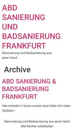 Vorschau der mobilen Webseite www.badsanierung-in-frankfurt.de, abd Badsanierung Frankfurt U.G.