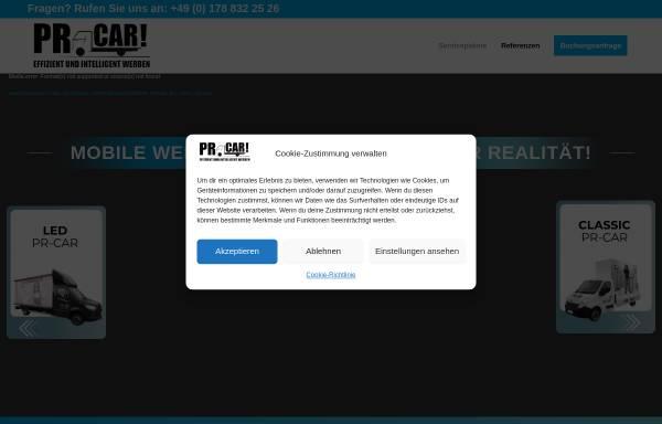 Vorschau von prcar.de, PR-Car - PromoVision GmbH
