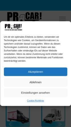 Vorschau der mobilen Webseite prcar.de, PR-Car - PromoVision GmbH