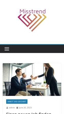 Vorschau der mobilen Webseite misstrend.de, Miss Trend Shop