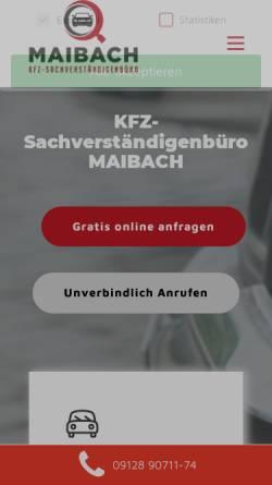 Vorschau der mobilen Webseite www.maibach-sv.de, Maibach GmbH