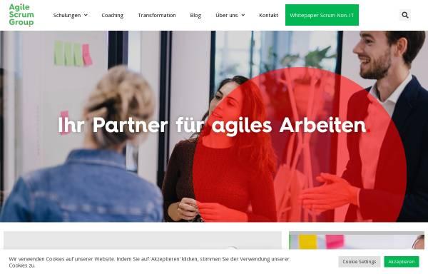 Vorschau von agilescrumgroup.de, Agile Scrum Group