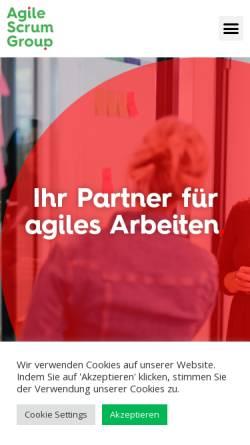 Vorschau der mobilen Webseite agilescrumgroup.de, Agile Scrum Group