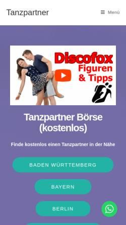 Vorschau der mobilen Webseite einfach-besser-tanzen.net, Social Dance e.V.