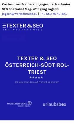 Vorschau der mobilen Webseite wortschmied.eu, Wortschmied