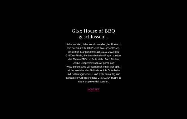 Vorschau von www.gixx-bbq.de, gixx House of BBQ